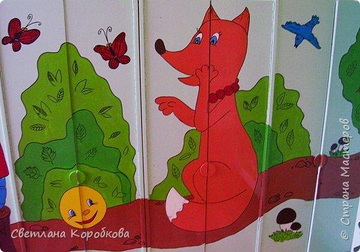 Роспись: как мы расписывали приемную в детском саду фото 5