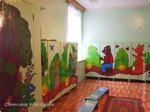 Роспись: как мы расписывали приемную в детском саду фото 1