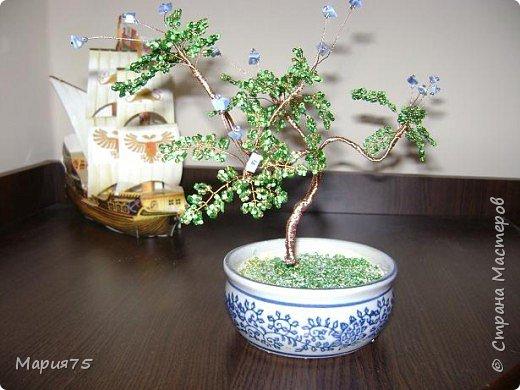 Бисероплетение: деревце в стиле бонсай фото 1