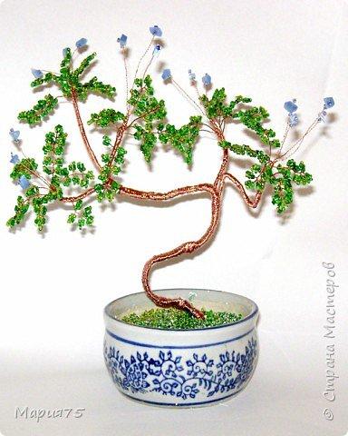 Бисероплетение: деревце в стиле бонсай фото 2