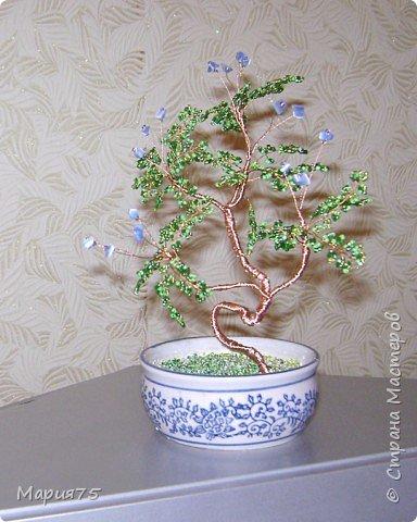 Бисероплетение: деревце в стиле бонсай фото 3