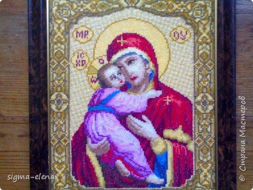 Вышивка крестом: Владимирская Богородица