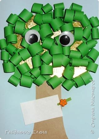 Аппликация: Открытки со сладким денежным деревом фото 3