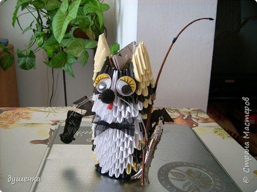 Оригами модульное: Кот-рыбак