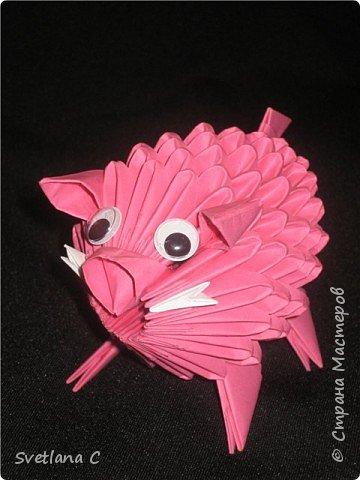 Оригами модульное: Кабанчик