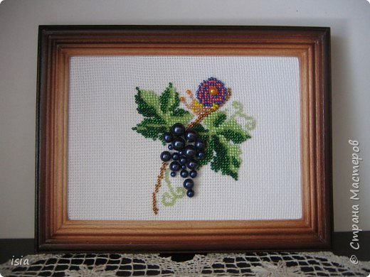Вышивка: Виноград