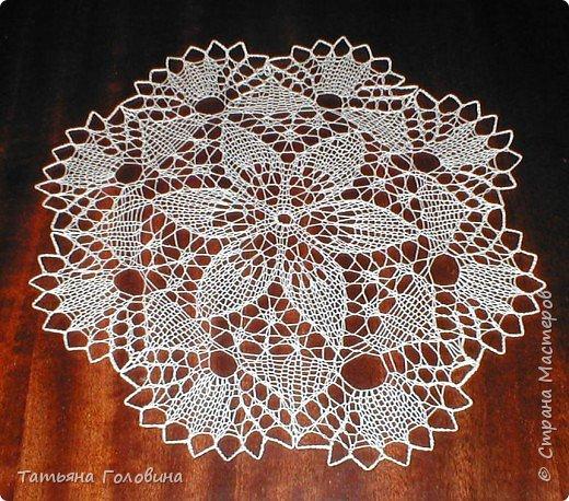 Вязание спицами: салфетки фото 2