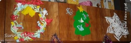 Аппликация: новогодние украшалки нашего дома