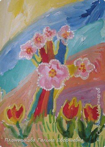 Рисование и живопись: Мое весеннее деревце