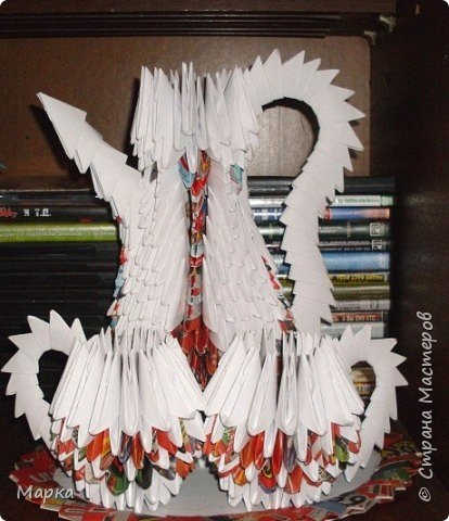 Оригами модульное: Кувшин с чашками