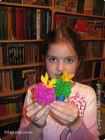 Торцевание на пластилине: В подарок маме фото 1