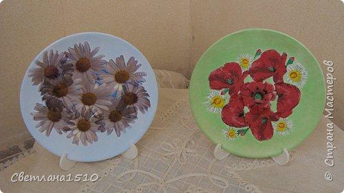 Декупаж: Ещё тарелочки и свечи фото 3