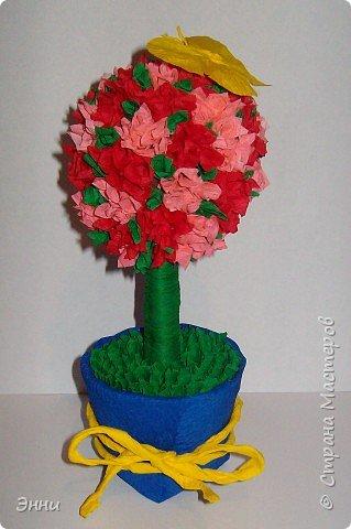 Торцевание на пластилине: Цветочное дерево
