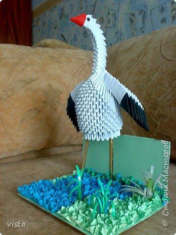 Оригами модульное: Аист