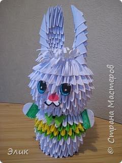 Оригами модульное: Зайка