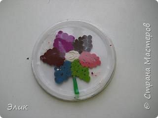 Аппликация из пластилина (+ обратная): Цветы фото 4