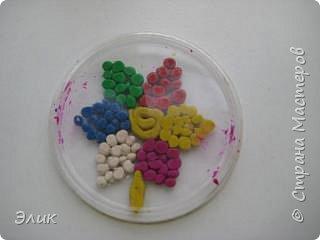 Аппликация из пластилина (+ обратная): Цветы фото 5