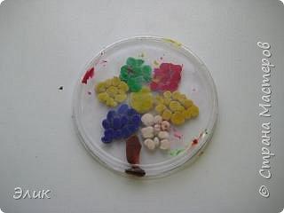 Аппликация из пластилина (+ обратная): Цветы фото 7