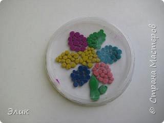 Аппликация из пластилина (+ обратная): Цветы фото 8