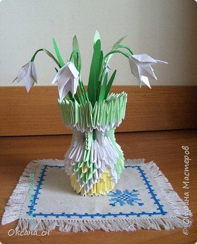 Оригами модульное: Подснежники
