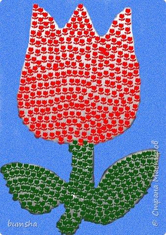 Мозаика: весенний цветок