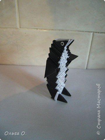 Оригами модульное: Пингвин фото 2
