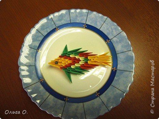 Оригами модульное: Рыбка фото 1