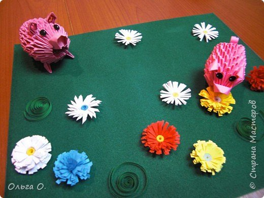 Оригами модульное: На прогулке фото 2