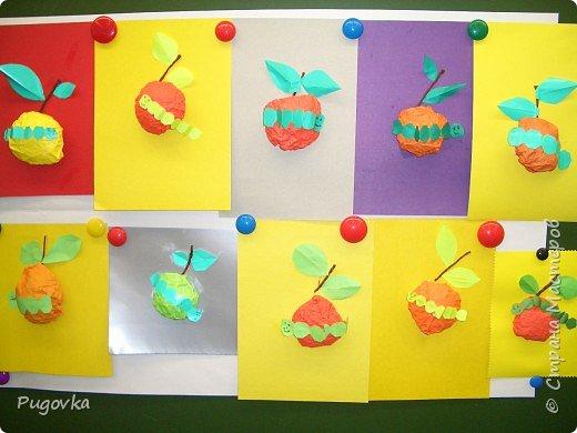Гусеница на яблоке (аппликация из учебника 1 класс) фото 2