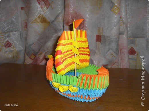 Оригами модульное: Кораблик удачи фото 2