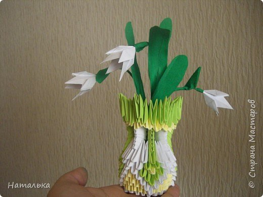 Оригами модульное: Весенний букетик