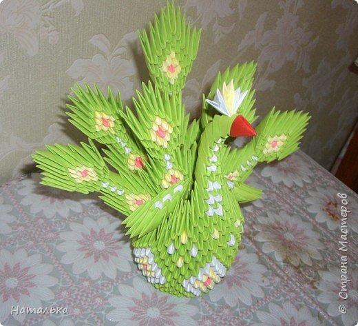 Оригами модульное: Пава фото 2