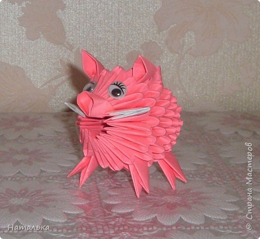 Оригами модульное: Свин фото 1