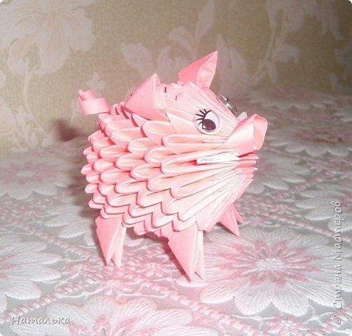 Оригами модульное: Свин фото 2