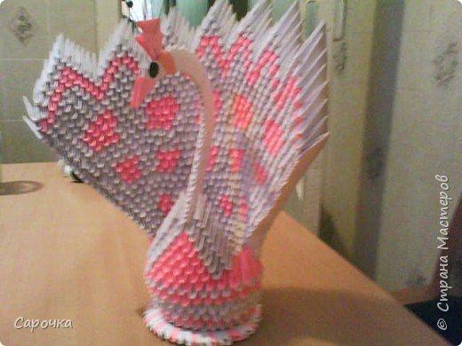 Оригами модульное: Еще павлин фото 2