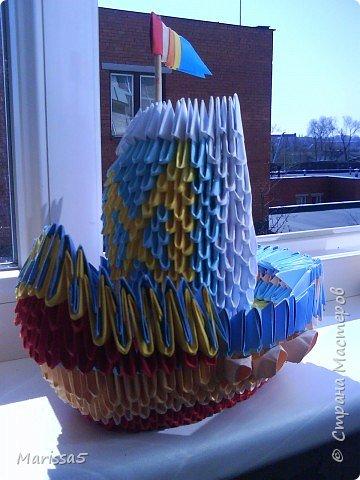 Оригами модульное: korablik фото 2
