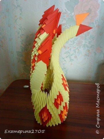 Оригами модульное: Павлин фото 3