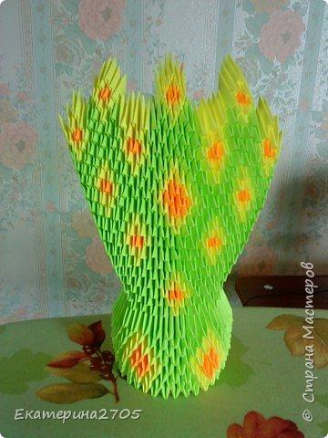 Оригами модульное: Павлин 2 фото 2