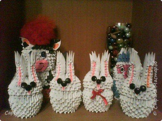 Оригами модульное: Кролики фото 1