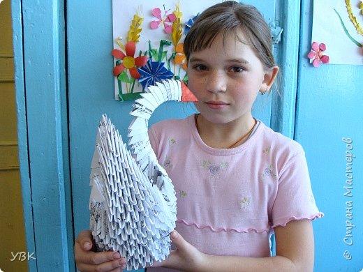 Оригами модульное: Музыкальный лебедь.