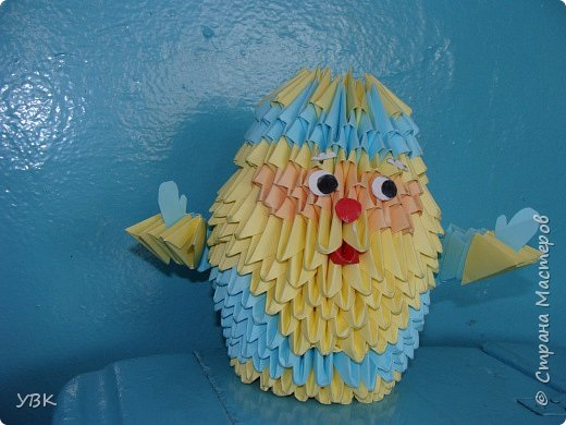 Оригами модульное: весенний дед мороз