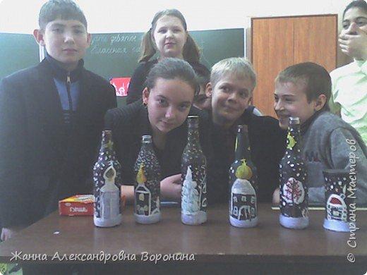 """Роспись: """"Зимняя ночь"""" фото 6"""