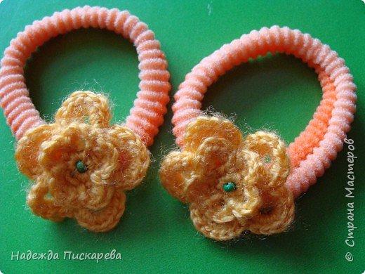 Вязание крючком: Резинки для волос