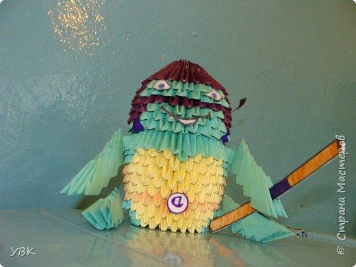 Оригами модульное: Вот какие черепашки. фото 3