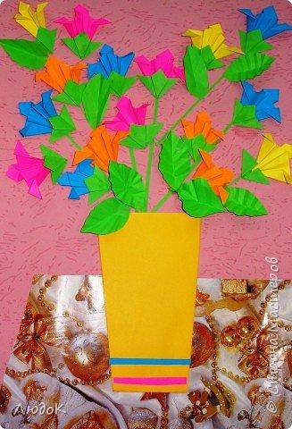Оригами: поздравительный букет от всего класса
