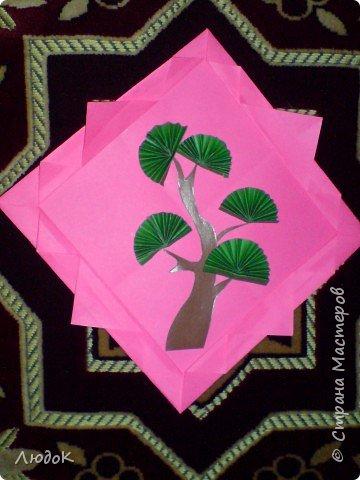 Оригами: Японское дерево