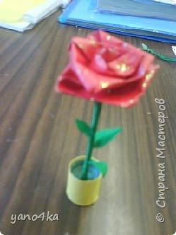Квиллинг: Квиллинг-роза в горшочке