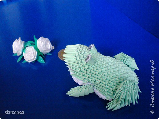 Оригами модульное: лягушонок фото 2