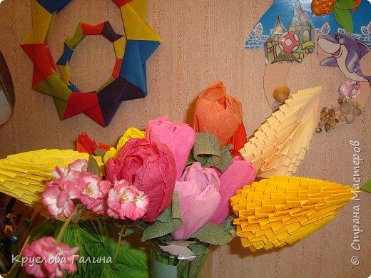 Оригами модульное: букет цветов