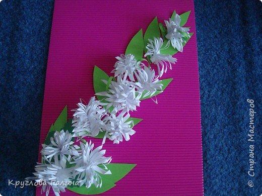 Квиллинг: Хризантемы в саду